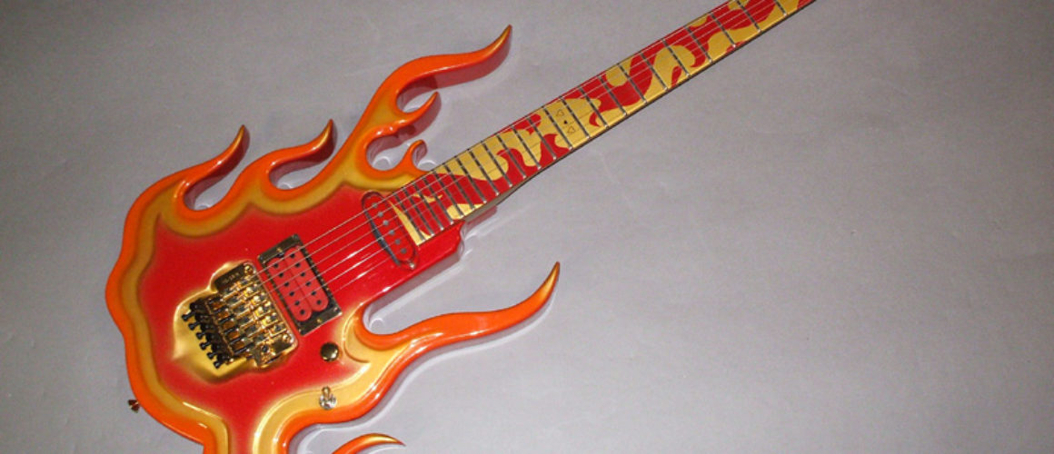 Steve Vai Flame Guitar by Performance Guitar