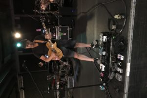 Dweezil Zappa at rehearsal with his Les Paul modified by Performance Guitar