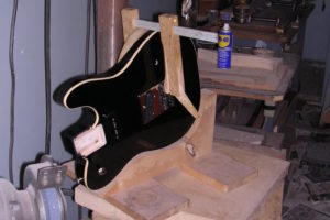 Joe Walsh's Tele -3 Side Jack Hole Drilling by Performance Guitar