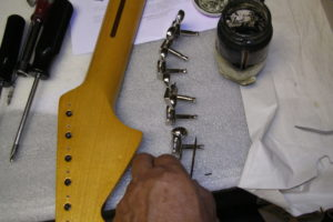 Joe Wlash's Jaguar -2 Tuning Key Installation by Performance Guitar (2)